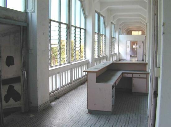 abandoned counter at old changi hospital