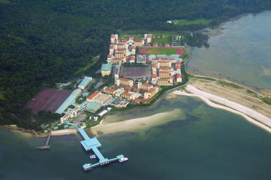 Aerial view of Pulau Tekong